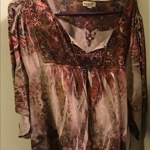 Plus Size Top 1X One World Tunic Style